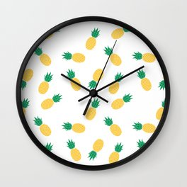 PINEAPPLE ANANAS FRUIT FOOD PATTERN Wall Clock