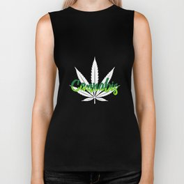 Cannabis | Marijuana Weed Pot Head Gifts Biker Tank