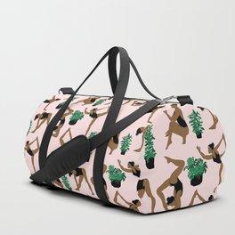 yoga with plants Duffle Bag
