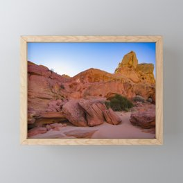 Colorful Sandstone, Valley-of-Fire - III Framed Mini Art Print