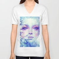 sale V-neck T-shirts featuring December by Anna Dittmann