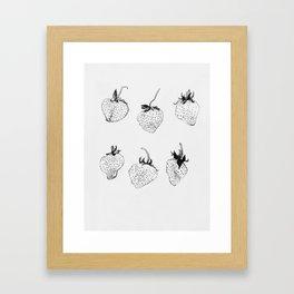 strawberries forever Framed Art Print