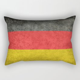 German National flag, Vintage retro patina Rectangular Pillow