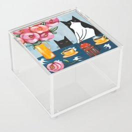 Cats and French Press Coffee Acrylic Box