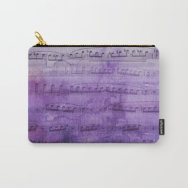 Soft Purple Music Carry-All Pouch