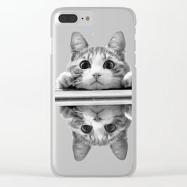 Cat reflected Clear iPhone Case