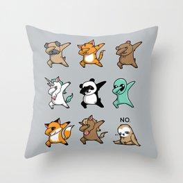 Dabbing Party Throw Pillow