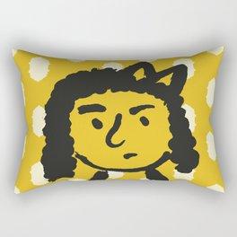 grumpy 'tude Rectangular Pillow