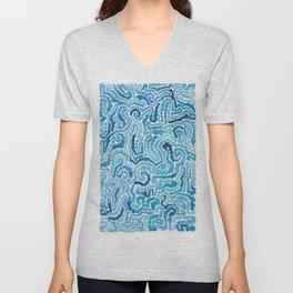 Blue Painting Unisex V-Neck