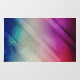 Vivid - Colorful Geometric Mountains Texture Pattern Rug