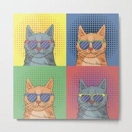 Cats Art Metal Print