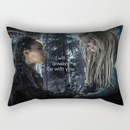 """Clexa: """" I will always be with you"""" Rectangular Pillow"""