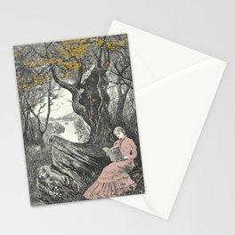 Sweet Bookish Solitude Stationery Cards