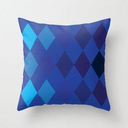 Blue Argyle Pattern Throw Pillow