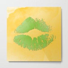 Watercolor kiss 2 Metal Print