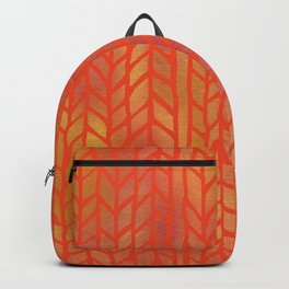 Braided Warm-Toned Pattern Backpack