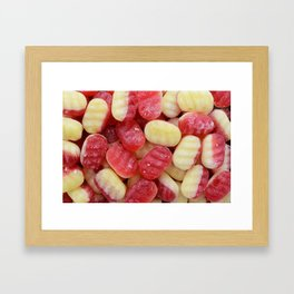 Rhubarb and custard Framed Art Print