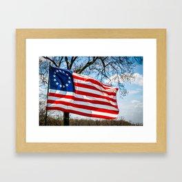 Betsy Ross Flag Framed Art Print