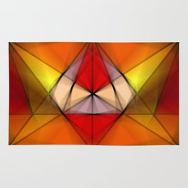 Stained  Triangulate  Rug