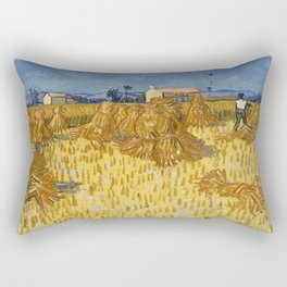 Corn Harvest in Provence Rectangular Pillow