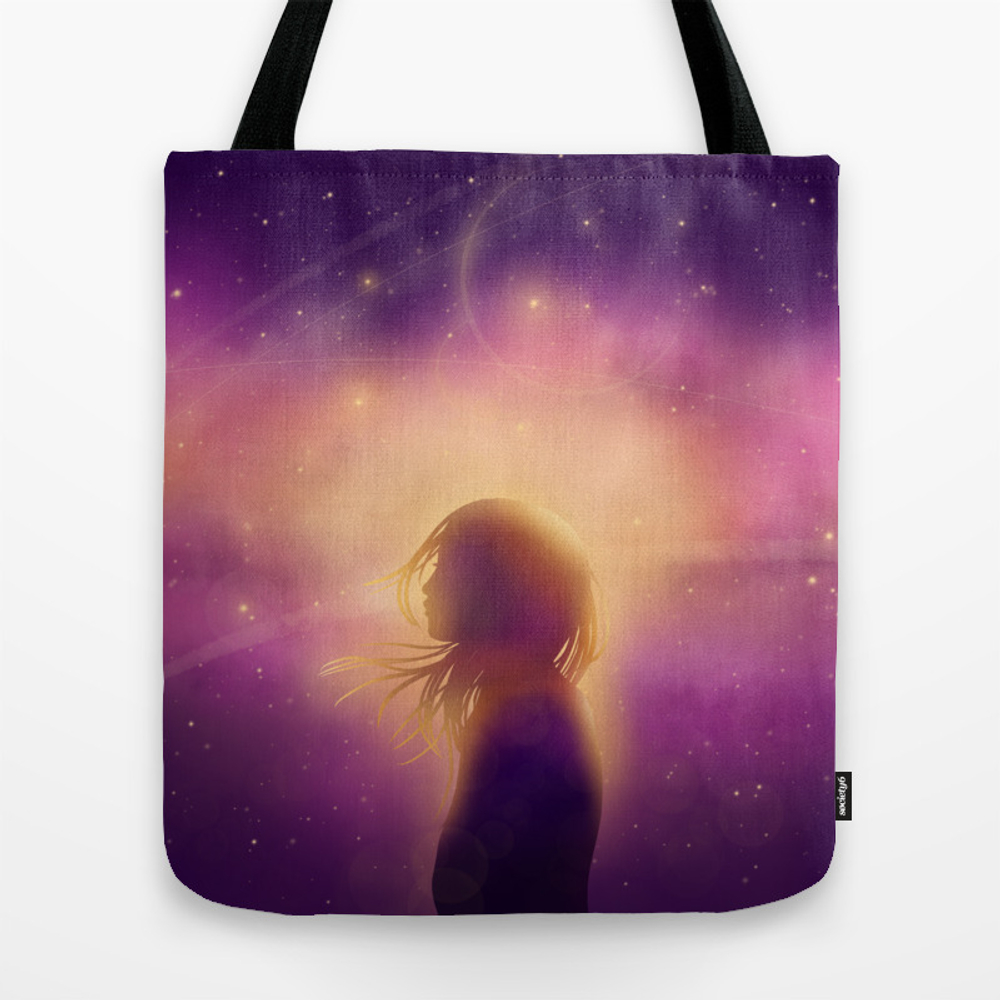 Anime Girl Sunset Scenery Tote Purse by Artbybee7 (TBG9985757) photo
