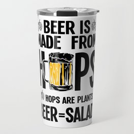 Beer salad vegetables hop malt healthy joke gift Travel Mug
