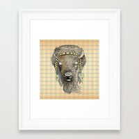bison Framed Art Prints featuring Bison by dogooder