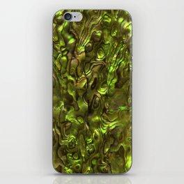 Abalone Shell   Paua Shell   Sea Shells   Patterns in Nature   Yellow Tint   iPhone Skin