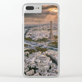 Paris from the air Clear iPhone Case