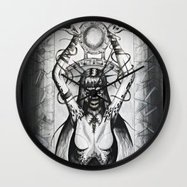 A Heart So Black Wall Clock