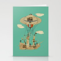 pirates Stationery Cards featuring sky pirates by bri.buckley