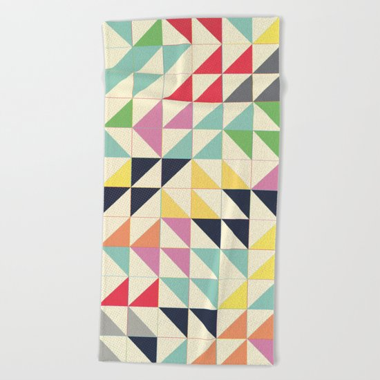 Triangles and Squares III Beach Towel