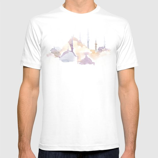 Watercolor landscape illustration_Istanbul - Saint Sophia T-shirt