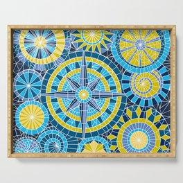 Mosaic Pinwheels Serving Tray
