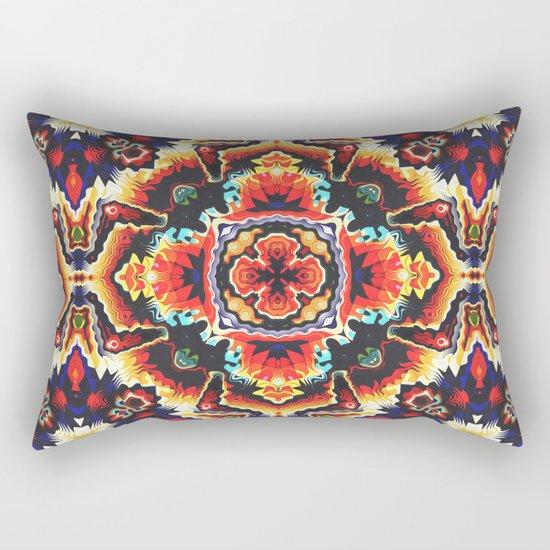 Geometric Motif Rectangular Pillow