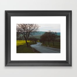 Along a rural road - Landscape and Nature Photography Framed Art Print