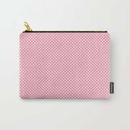 Houndstooth White & Pink small Carry-All Pouch
