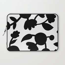 Bold floral pattern White Laptop Sleeve