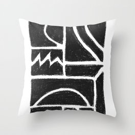 Charcoal Pattern Throw Pillow