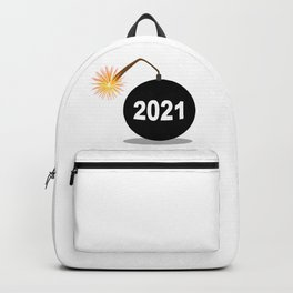 Cartoon 2021 New Years Bomb Backpack