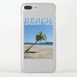 Palm Tree at the Beach Clear iPhone Case