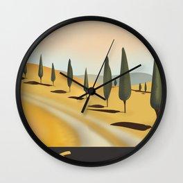 Tuscany Italy Wall Clock