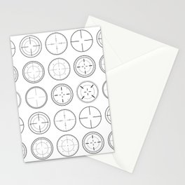 Sniper Scope Targets Stationery Cards