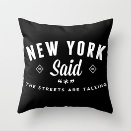 New York Said Throw Pillow