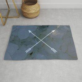 crossed quartz Rug