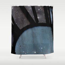 Starry Night - Clock Tower Shower Curtain