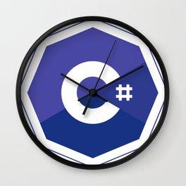 c# developers logo dot net Wall Clock