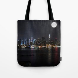 New York Supermoon Tote Bag