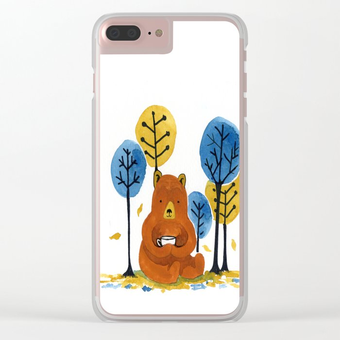 Autumn Coffee Clear iPhone Case