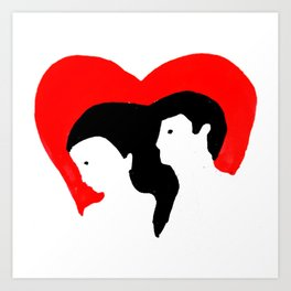 newlyweds heart Art Print